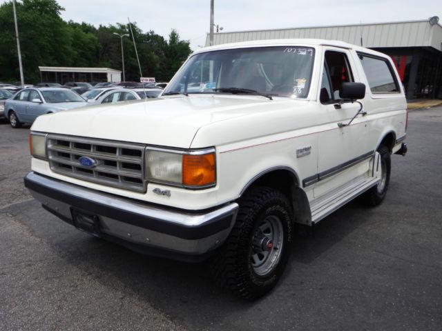 Ford Bronco SUV 1988 White For Sale. 1FMEU15N1JLB00656 ...
