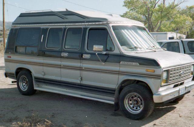 Ford E Series Van Camper 1988 SILVER BLACK For Sale