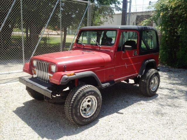 jeep wrangler suv 1988 red for sale 2bccv8118jb529492 1988 jeep yj rh findclassicars com 1997 Jeep Wrangler 2015 Jeep Wrangler