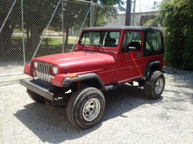 jeep wrangler suv 1988 red for sale 2bccv8118jb529492 1988 jeep yj rh findclassicars com 2018 Jeep Wrangler 2015 Jeep Wrangler