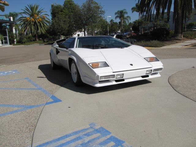 Lamborghini Countach Coupe 1988 White For Sale Za9ca05a7jla12229