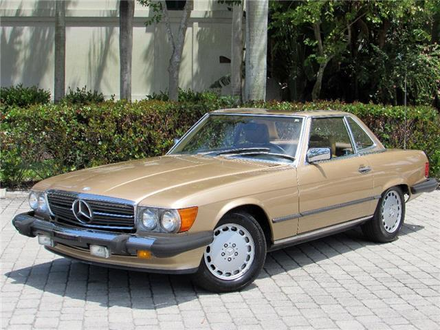 Mercedes benz 500 series convertible 1988 gold for sale for 1988 mercedes benz 560sl for sale