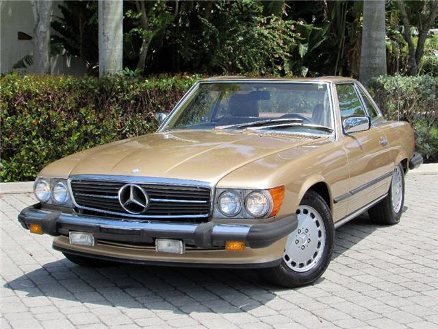 Mercedes benz 500 series convertible 1988 gold for sale for Gold mercedes benz price