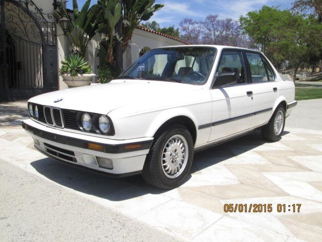 BMW 3-Series Sedan 1989 Alpine White For Sale ...