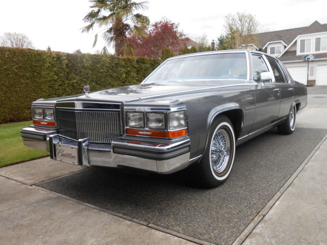 Cadillac Brougham Sedan 1989 Gray For Sale. 1g6dw51y3kr723800 1989