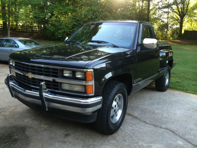 chevrolet c k pickup 1500 standard cab pickup 1989 black for sale 1gcdk14k7kz145919 1989. Black Bedroom Furniture Sets. Home Design Ideas