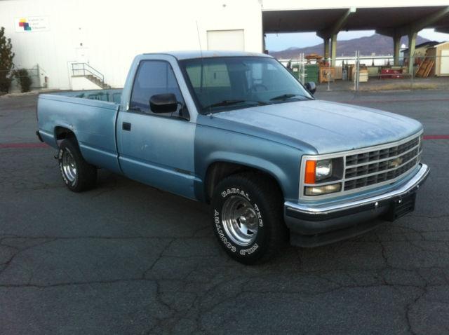 chevrolet c k pickup 1500 standard cab pickup 1989 blue. Black Bedroom Furniture Sets. Home Design Ideas