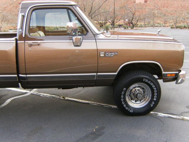dodge other pickups standard cab pickup 1989 dk brown light brown for sale 1b7km3680ks104068. Black Bedroom Furniture Sets. Home Design Ideas