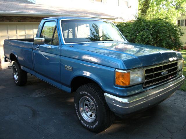 ford   standard cab pickup  blue  sale