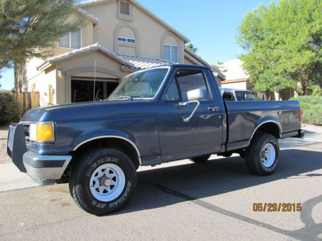 Ford F   Blue For Sale Ftefyknb  Ford F  X Shortbed Manual Transmission Inline  Cylinder No Reserve Az