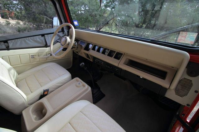 Jeep Wrangler Suv 1989 Red For Sale 2j4fy29t1kj161941 1989 Jeep Wrangler Yj 4x4 6 Cyl Manual
