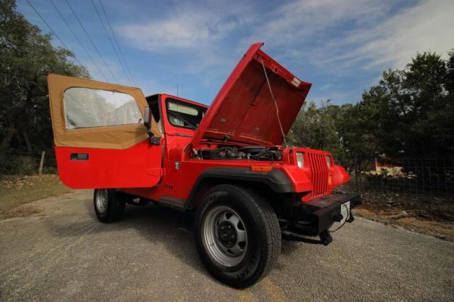 Jeep Wrangler Suv 1989 Red For Sale 2j4fy29t1kj161941