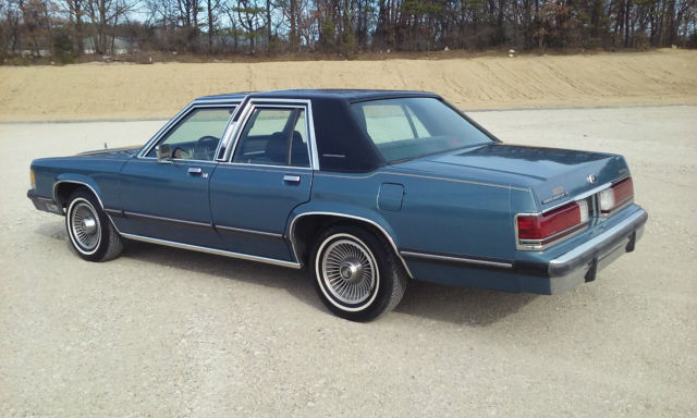 mercury grand marquis sedan 1989 blue for sale. Black Bedroom Furniture Sets. Home Design Ideas