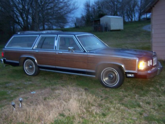 mercury grand marquis wagon 1989 blue for sale. Black Bedroom Furniture Sets. Home Design Ideas