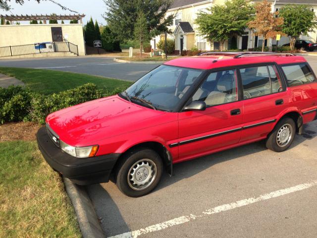 toyota corolla wagon 1989 red for sale jt2ae94v4k0048824 1989 toyota corolla dlx all trac wagon. Black Bedroom Furniture Sets. Home Design Ideas