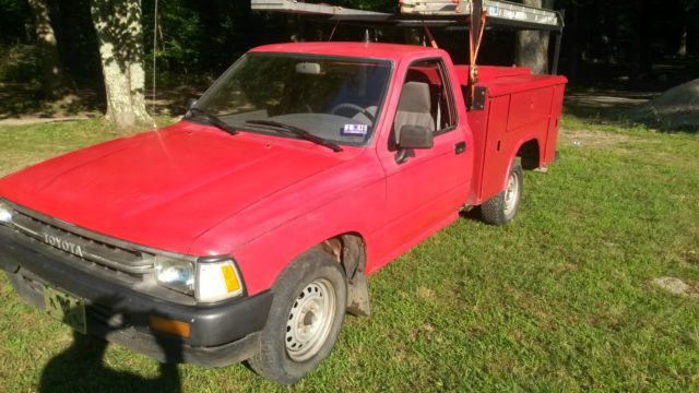 Toyota Other Standard Cab Pickup 1989 Red For Sale