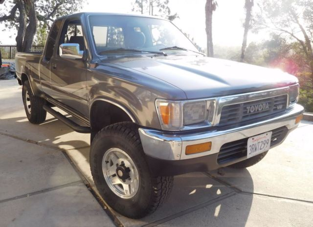 toyota tacoma extended cab pickup 1989 gray for sale jt4vn13gxk0008244 1989 toyota tacoma. Black Bedroom Furniture Sets. Home Design Ideas