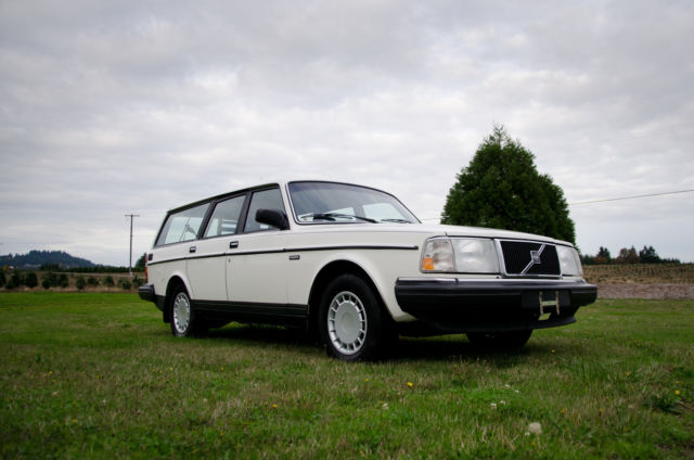 volvo 240 wagon 1989 white for sale yv1ax8852k1842571 1989 volvo 240 wagon 88k original miles. Black Bedroom Furniture Sets. Home Design Ideas