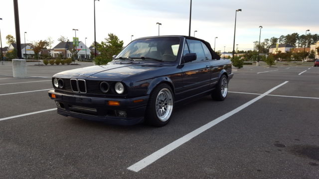 Bmw 3 Series Convertible 1990 Blue For Sale