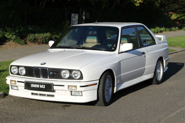 bmw m3 coupe 1990 white for sale wbsak0319lae33636 1990. Black Bedroom Furniture Sets. Home Design Ideas