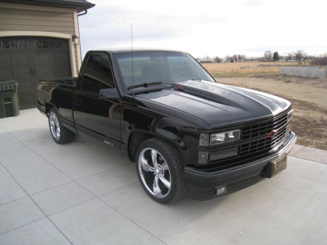 Chevy Truck Wheels >> Chevrolet Other Pickups reg cab short box 1990 Black For Sale. 1GCDC14N0LZ247197 1990 chevrolet ...