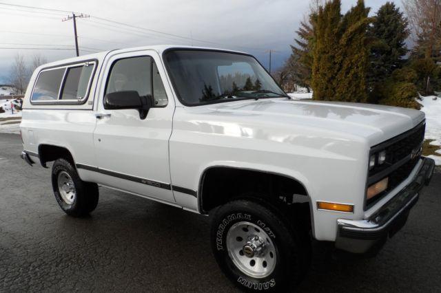 Chevrolet Blazer 1990 White For Sale 1gnev18k2lf155290