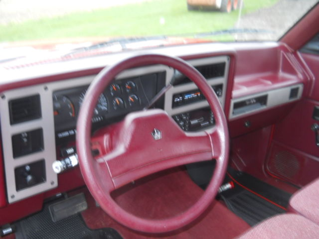 Dodge Dakota Extended Cab Pickup 1990 Red For Sale