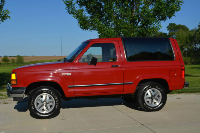 Ford Original Window Sticker Vin >> Ford Bronco II SUV 1990 Red For Sale. 1FMCU14T6LUA81008 1990 Ford Bronco II XLT V6 5 Speed ...