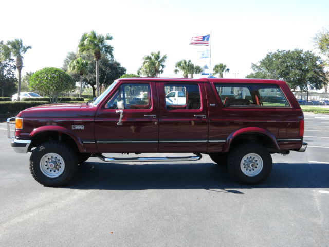 Ford Bronco SUV 1990 Red For Sale  2FTJW36G9LCA41300 1990 Ford C350
