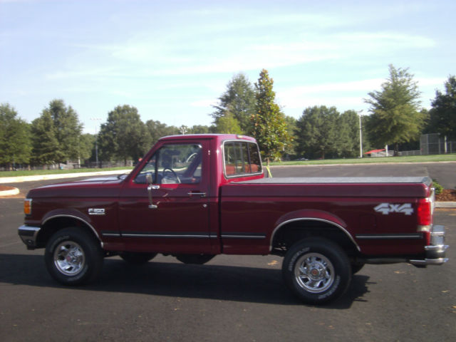 ford f 150 standard cab pickup 1990 burgundy for sale 1ftef14n2llb23558 1990 ford f150 reg cab. Black Bedroom Furniture Sets. Home Design Ideas