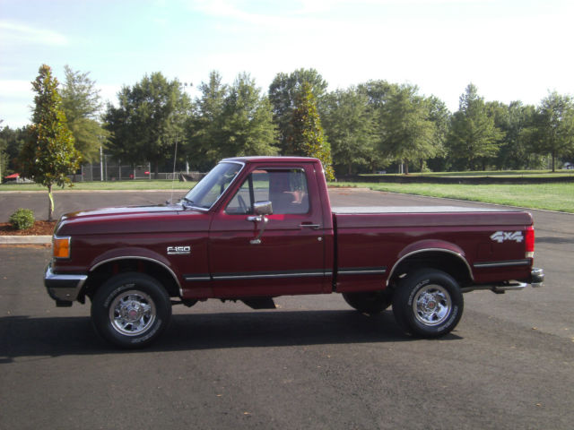 How To Find Vin Number From Reg >> Ford F-150 Standard Cab Pickup 1990 Burgundy For Sale ...