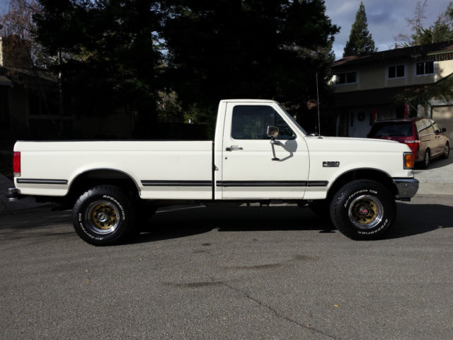 Ford F  Standard Cab Pickup  White For Sale Fthfhlca  Ford F Xlt Lariat Fully Loaded Runs Great