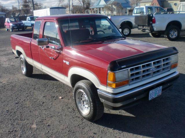 ford ranger extended cab pickup 1990 red for sale. Black Bedroom Furniture Sets. Home Design Ideas