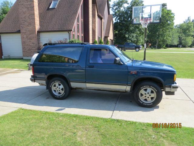 1990 Chevrolet S10 Tahoe S15 Gmc For Sale - Imagez co