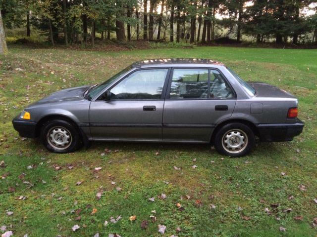 Honda civic sedan 1990 gray for sale 1hged3645la085861 for 1990 honda civic motor