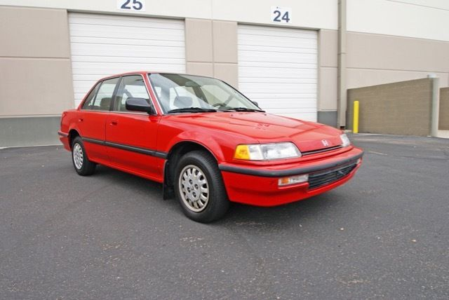 Honda Civic Sedan 1990 Phoenix Red For Sale