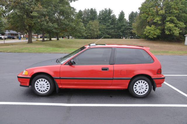 honda civic hatchback 1991 red for sale 2hged736xmh526402. Black Bedroom Furniture Sets. Home Design Ideas