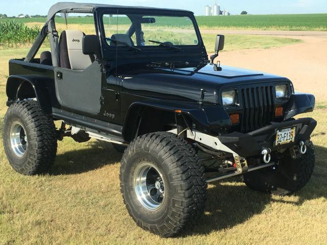Jeep Wrangler SUV 1990 Black For Sale  2J4FY59T0LJ508324 1990 Jeep