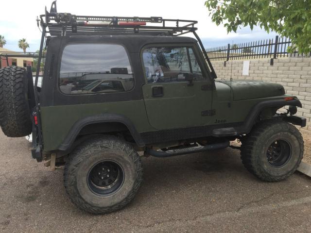 jeep wrangler suv 1990 green for sale 2j4fy49t6lj534307 1990 jeep wrangler sahara sport utility. Black Bedroom Furniture Sets. Home Design Ideas