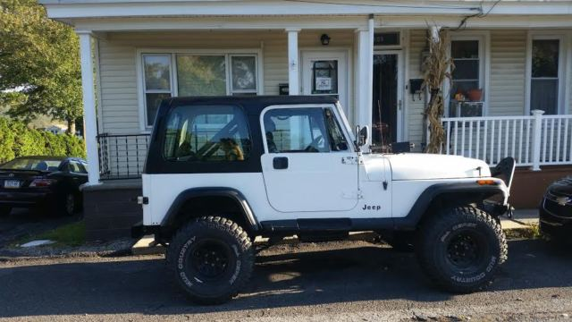 Jeep Wrangler Suv 1990 White For Sale 2j4fy39t8lj546033