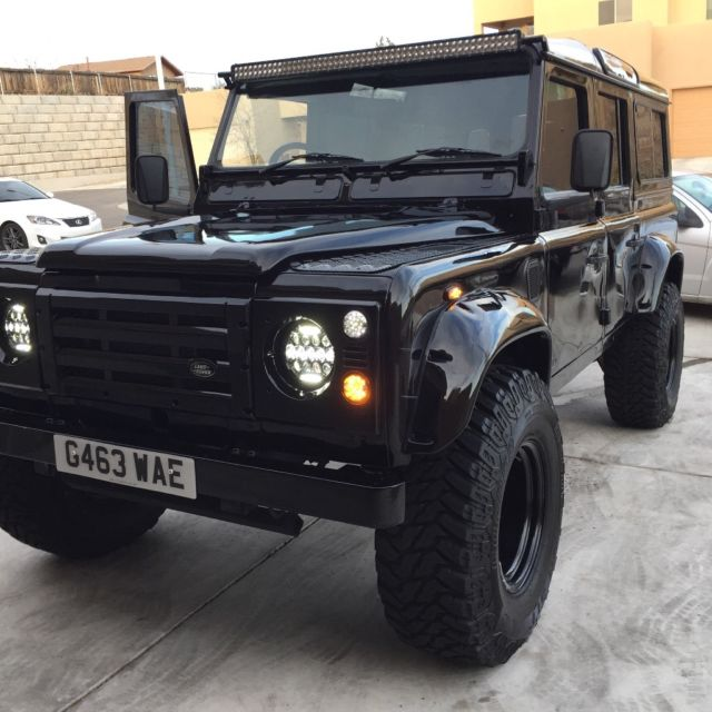 Land Rover Defender County Station Wagon 1990 Black For