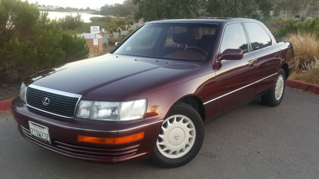 lexus ls sedan 1990 burgundy for sale jt8uf11e6l0036391. Black Bedroom Furniture Sets. Home Design Ideas