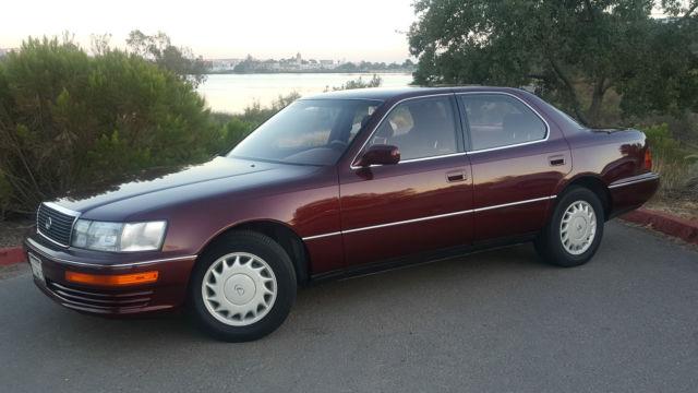 Lexus Ls Sedan 1990 Burgundy For Sale Jt8uf11e6l0036391