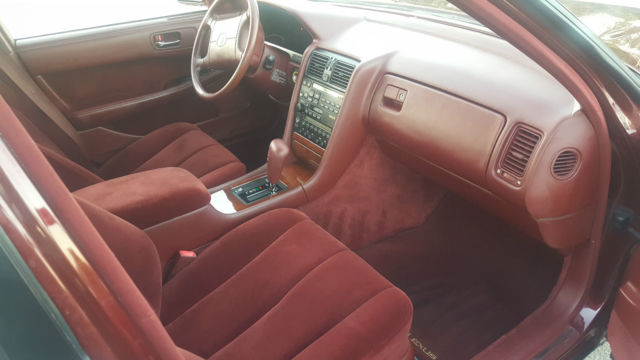 lexus ls sedan 1990 burgundy for sale jt8uf11e6l0036391 1990 lexus ls400 4 door v8 burgundy. Black Bedroom Furniture Sets. Home Design Ideas