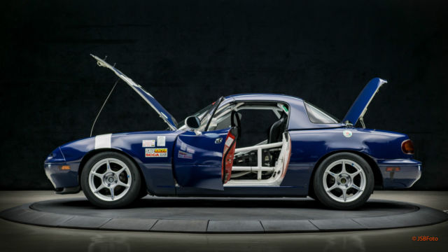 Mazda Mx 5 Miata Convertible With Hardtop 1990 Blue For Sale