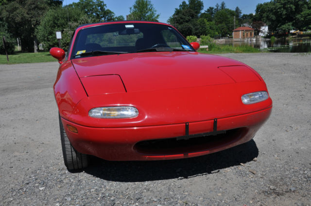 mazda mx 5 miata convertible 1990 red for sale jm1na3518l0118503 1990 mazda mx 5 miata. Black Bedroom Furniture Sets. Home Design Ideas