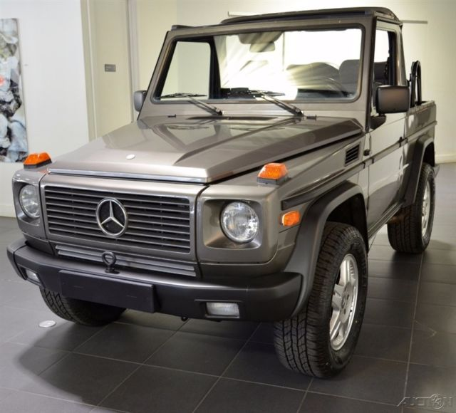 Mercedes benz g class convertible 1990 gray for sale for Mercedes benz gelandewagen for sale