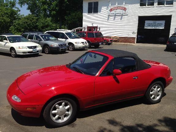 mazda mx 5 miata convertible 1990 red for sale jm1na3518l0126813 1990 red mazda mx 5 miata. Black Bedroom Furniture Sets. Home Design Ideas
