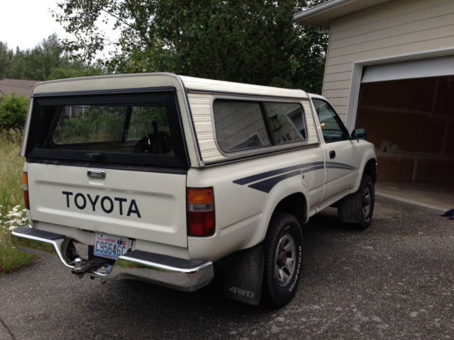 Toyota Other Standard Cab Pickup 1990 White For Sale