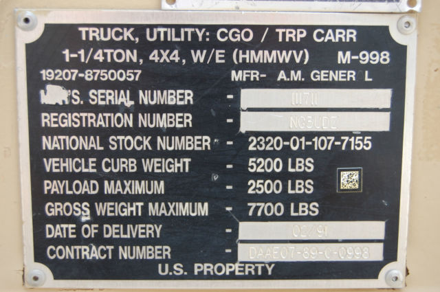 Hummer h1 xfgiven type xfields type xfgiven type 1991 for General motors part number search